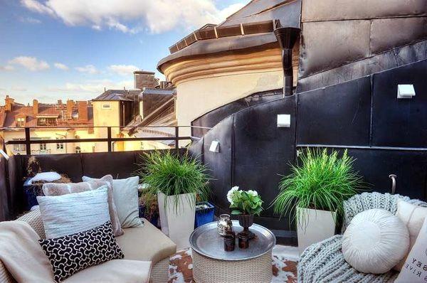 идеи для открытого балкона в скандинавском стиле