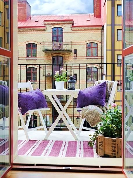 дизайн открытых балконов в скандинавском стиле