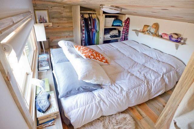 спальня в маленьком доме на колесах своими руками