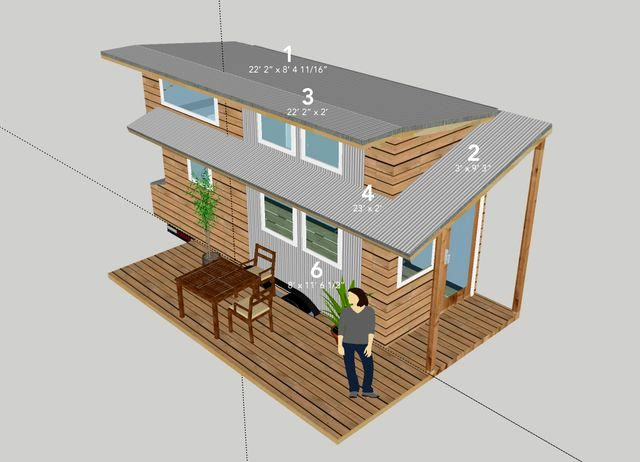 план экстерьера дома на колесах