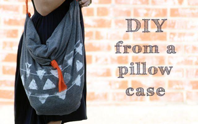 сумка-хобо своими руками из наволочки без шитья