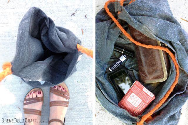 мягкая сумка-ковш своими руками без шитья из наволочки
