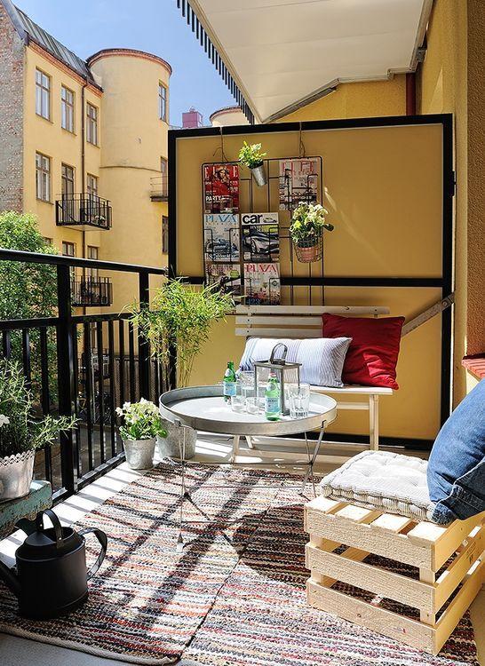 идеи декора балкона в стиле boho chic