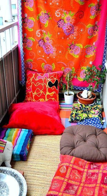 идеи декора открытого балкона в стиле boho chic
