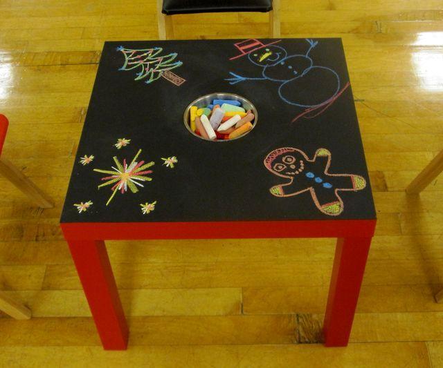 детский столик для рисования мелками своими руками