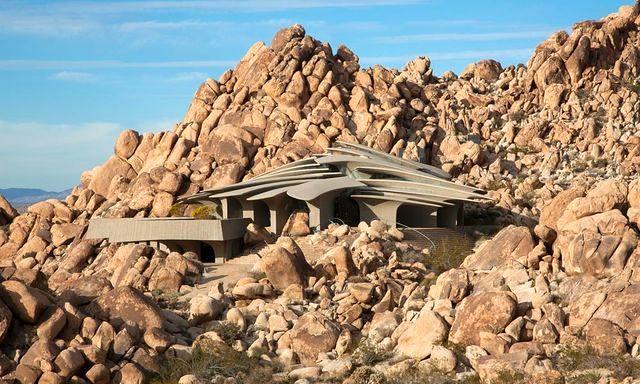 каменный дом в национальном парке Joshua tree, Калифорния