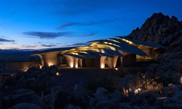дом архитектора Kendrick Bangs Kellogg ночью