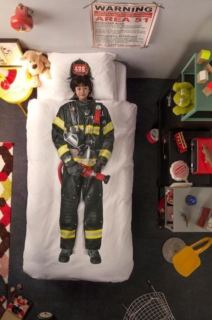 детское постельное белье snurk с формой пожарника