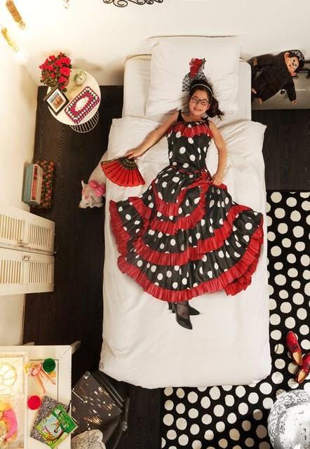 детское постельное белье snurk с платьем танцовщицы фламенко
