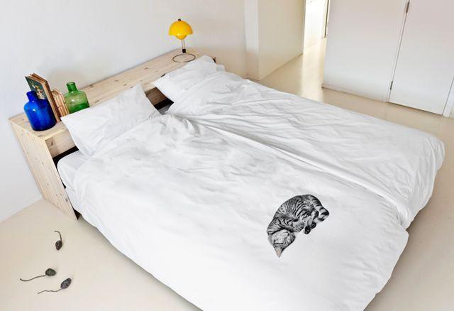постельное белье snurk с 3d изображением спящего кота