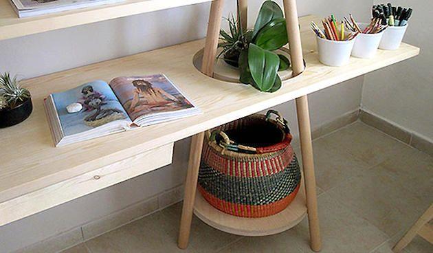 деревянный сборный стеллаж