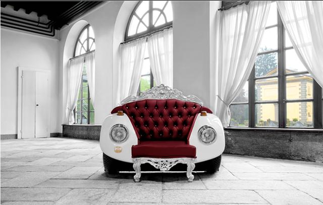 диван из автомобиля Beetle с элементами барокко