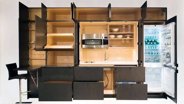 полностью открытая умная невидимая кухня Stealth Kitchen