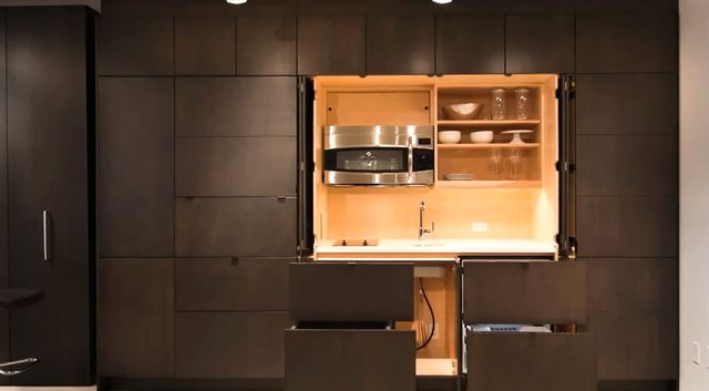 открытые секции скрытая кухня Stealth
