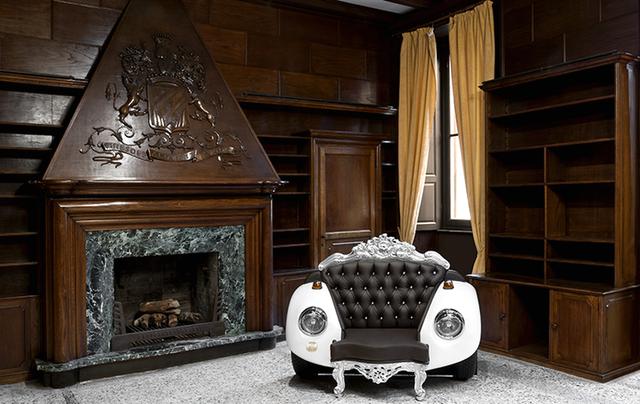 кресло в стиле барокко из бампера автомобиля