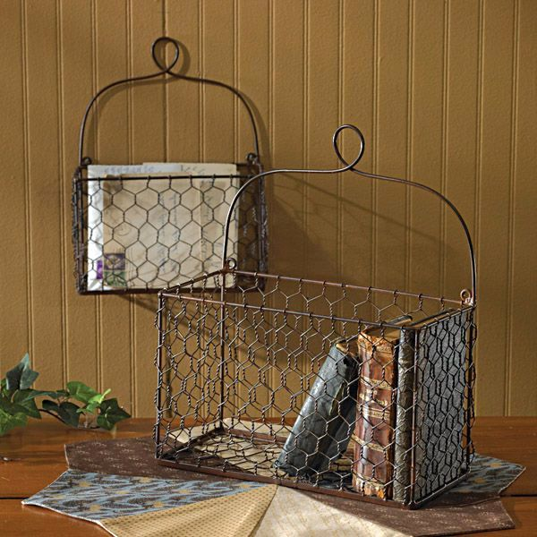 корзина для книг и журналов из проволочной сетки
