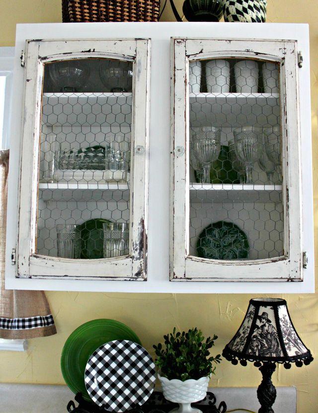 дверцы проволочная сетка в интерьере