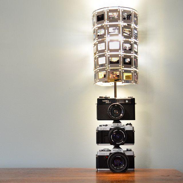 светильник своими руками из фотоаппаратов и слайдов