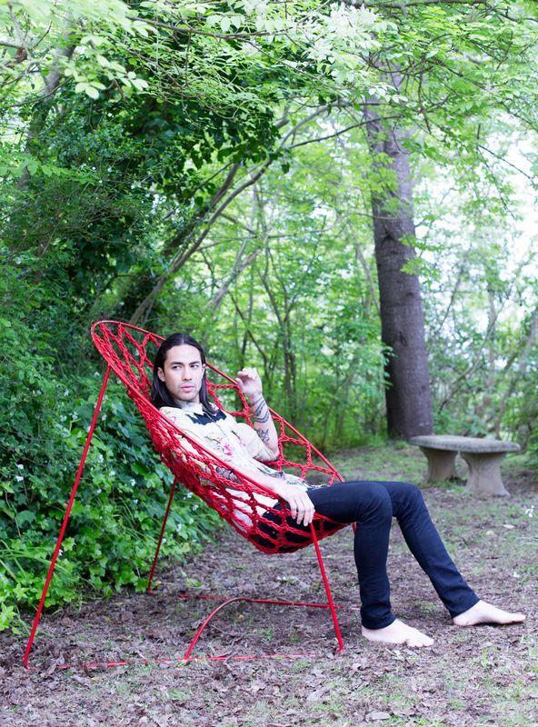 плетеное кресло Nook chair из резинки