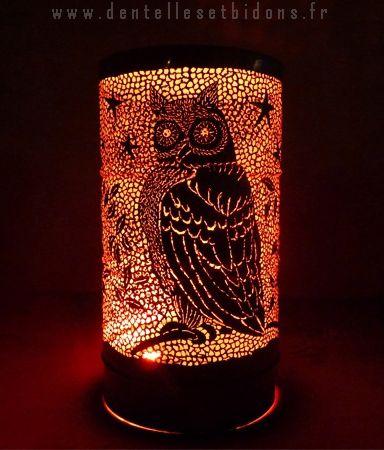 фонарик из жестяной бочки