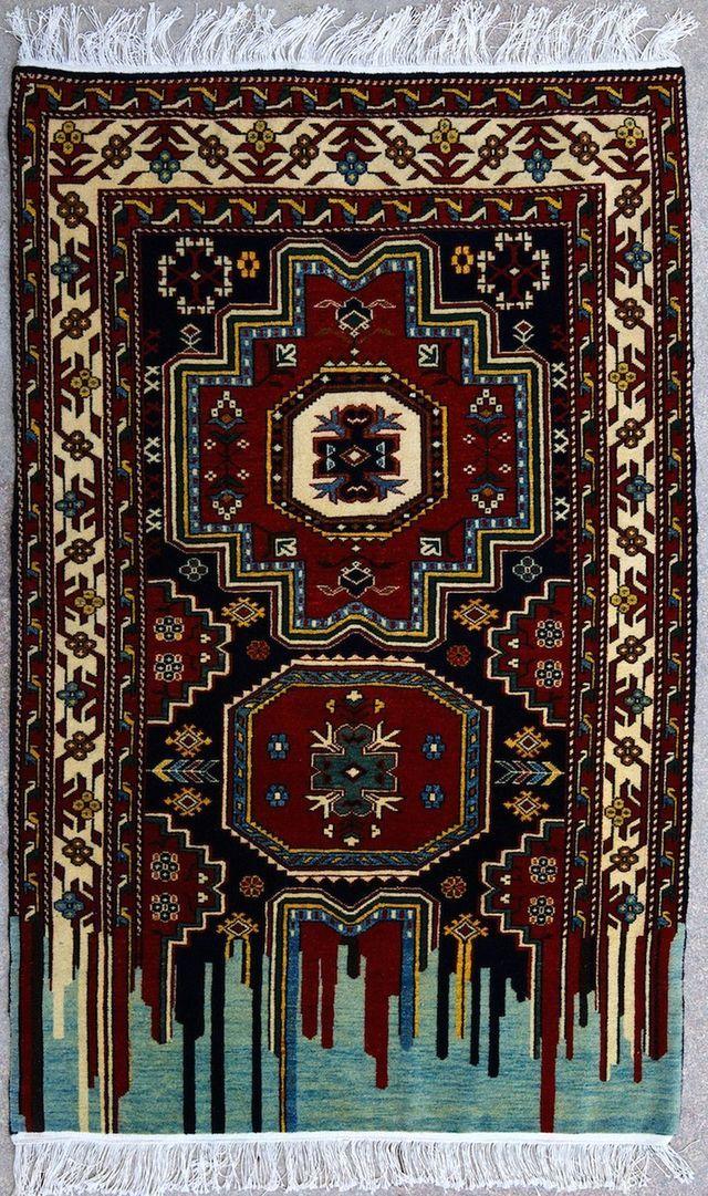 нетрадиционный оригиальный дизайн ковров Faig Ahmed