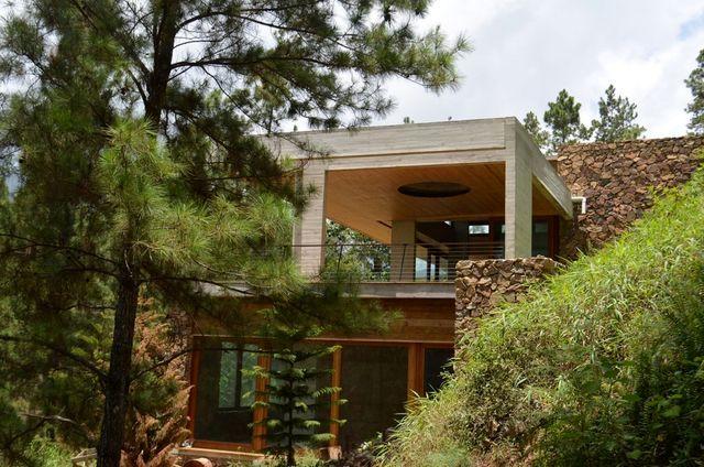 современный зеленый дом от чилийской архитектурной студии Vasho