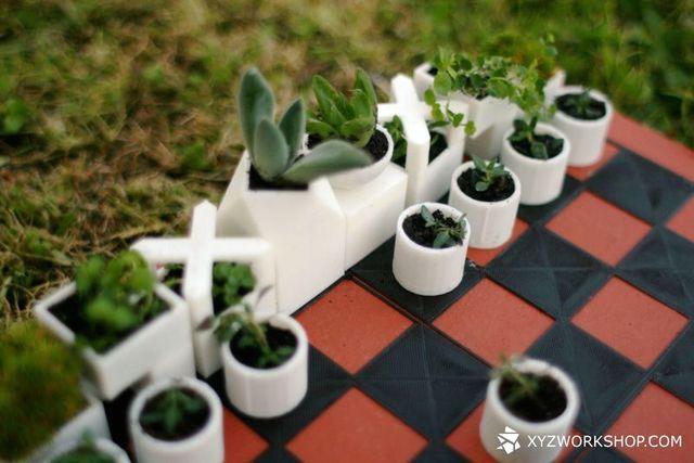 шахматные фигуры - мини вазонов