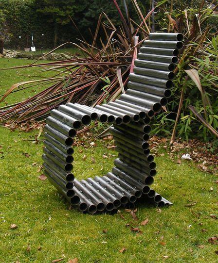садовое кресло из сварных труб