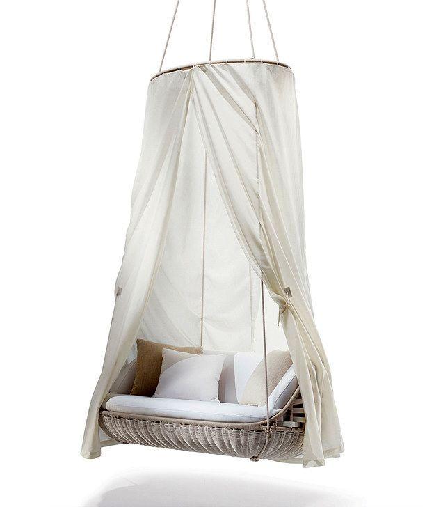 подвесной диван качели с балдахином