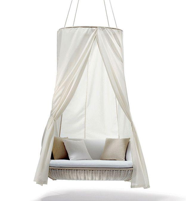 подвесной диван качели с балдахином для сада и дачи