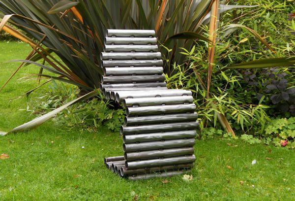 кресло садовое из стальных сварных труб