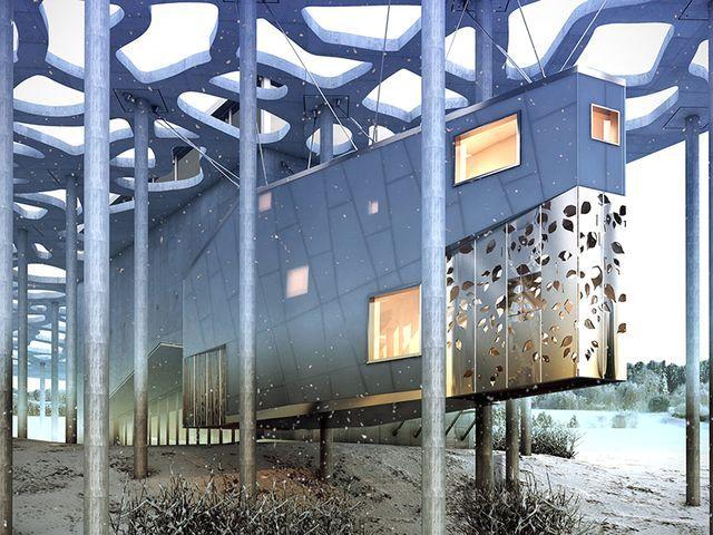 подвесной дом от blank studio