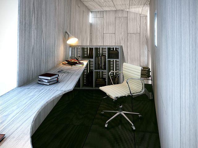 рабочий кабинет в подвесном доме от blank studio