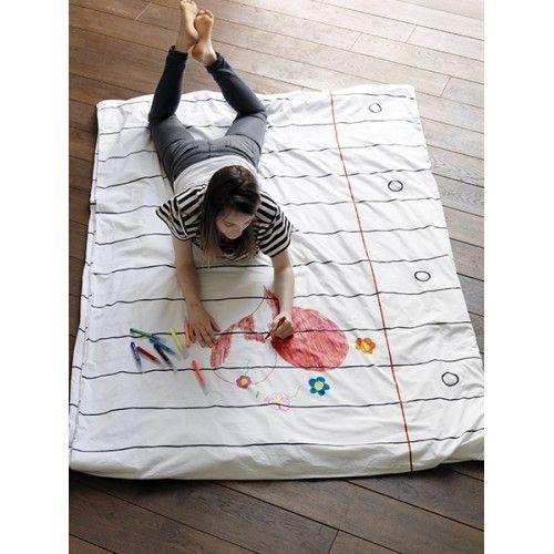 смываемые фломастеры - постельное белье doodle для росписи