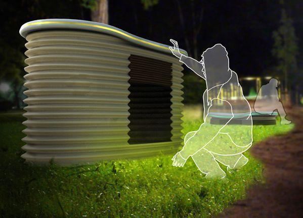 лавочка - ночной приют для бездомных