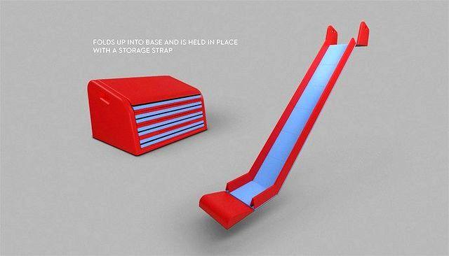 горка SlideRide для установке на лестницу в доме