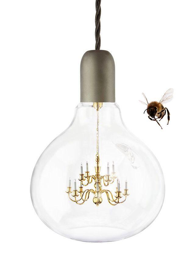 люстра в виде лампочки King Edison от Young-and-Battaglia