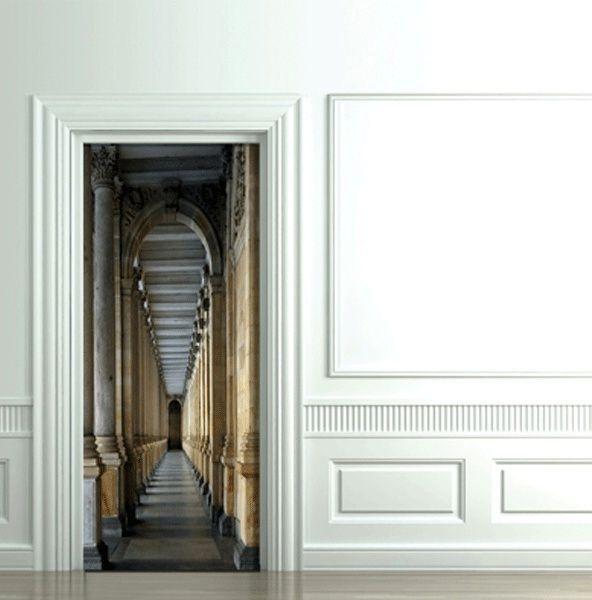 коридор замка - 3D декоративные наклейки