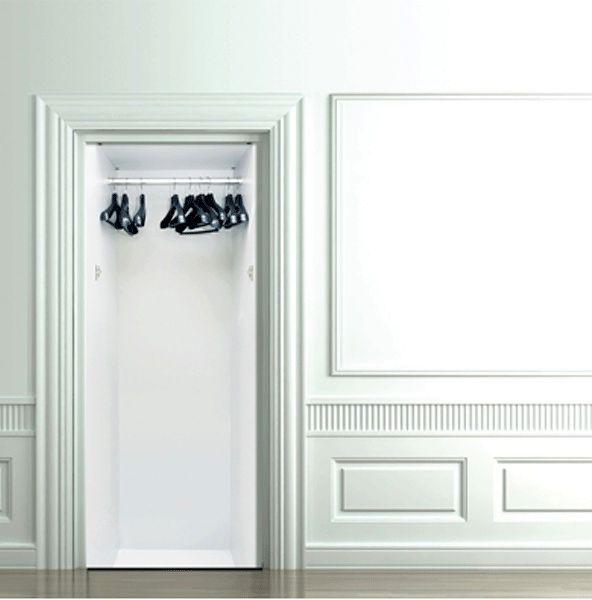 пустой шкаф - 3D фото стикер на дверь