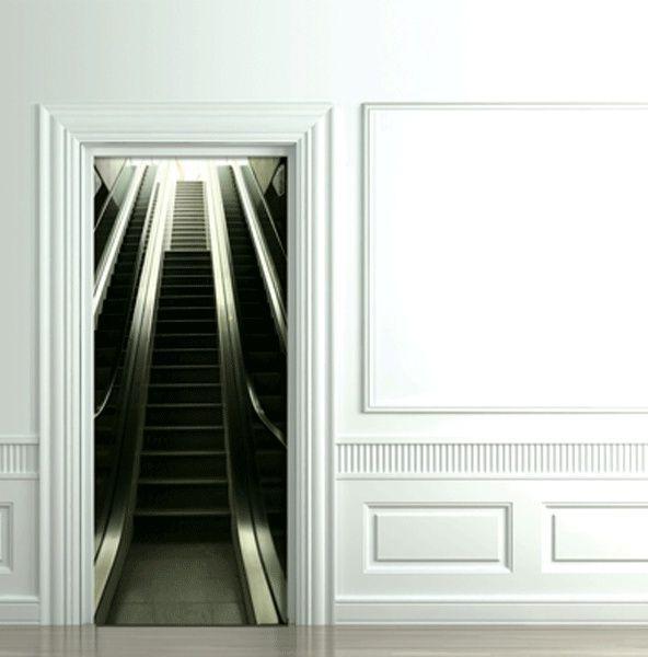 эскалатор 3D декоративные наклейки на дверь