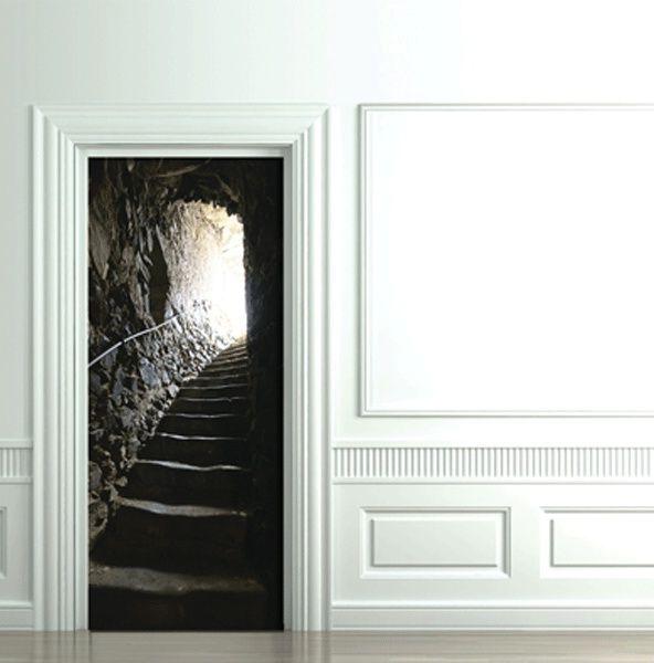катакомбы 3D декоративный фотостикер на дверь
