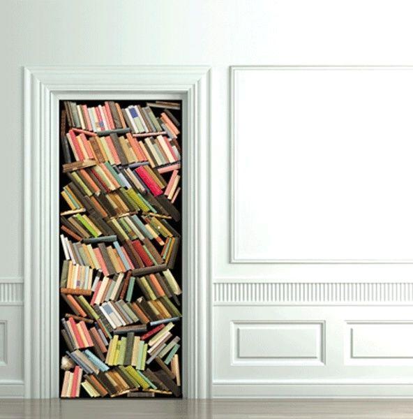 книги декоративный фотостикер на дверь