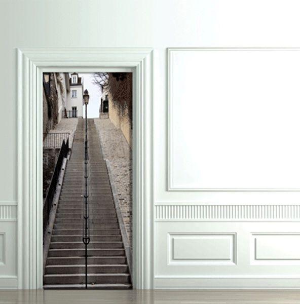 лестница на монмартре фотообои на дверь