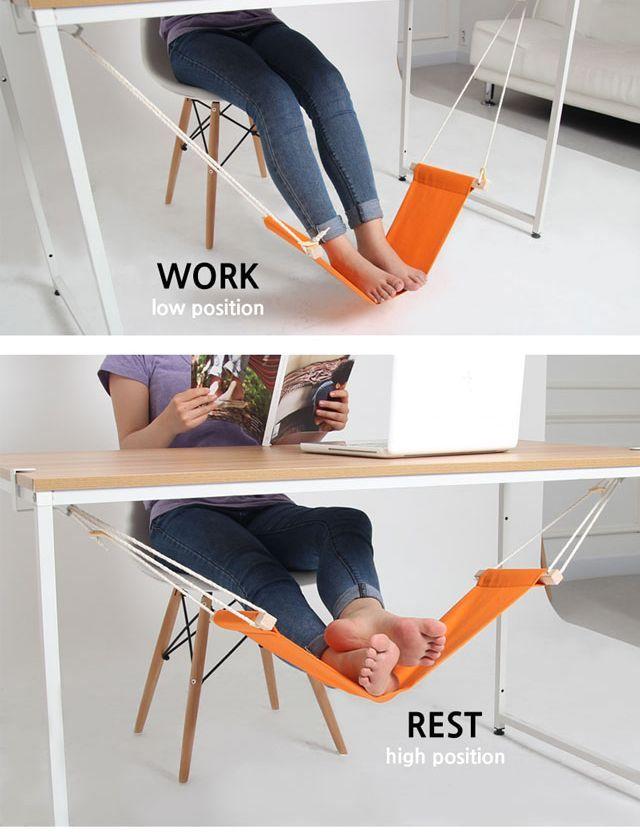 подвесной гамак для ног к рабочему столу