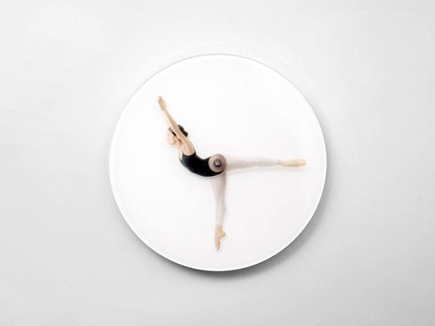 настенные часы с балериной