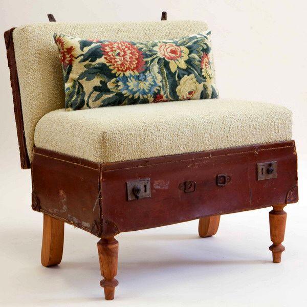 кресло своими руками из старого дорожного чемодана