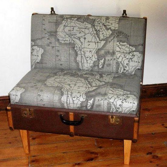 кресло из старого чемодана своими руками