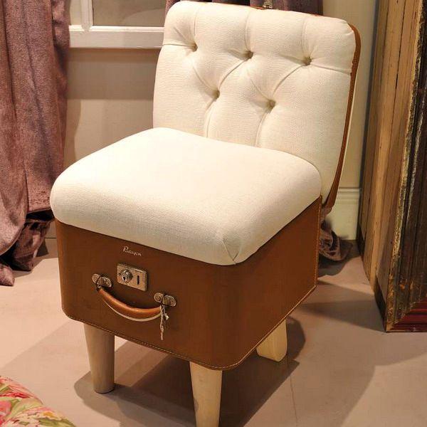 кресло из винтажного чемодана своими руками
