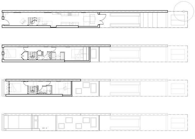 проект узкого дома для узкого участка
