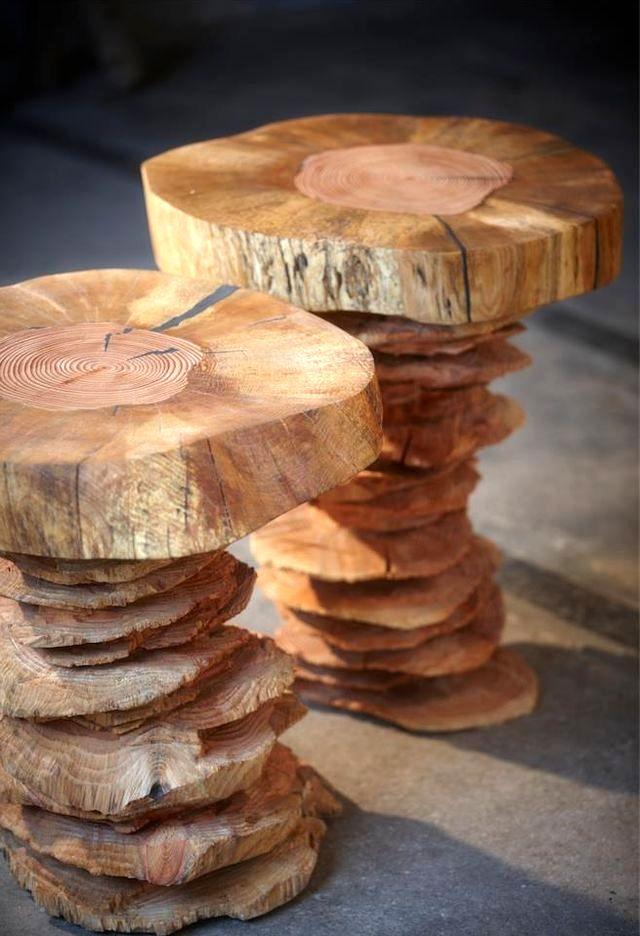 деревянные табуреты woodnwonder от Bente Hovendal